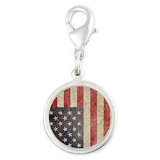 iPad Faded USA Silver Round Charm