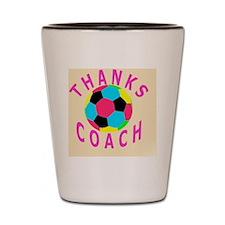Thank You Soccer Coach Keepsake Gifts Shot Glass