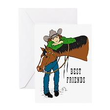 Western Best Friends Greeting Card