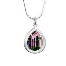 RainbowRow_Summer_Orname Silver Teardrop Necklace