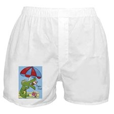 alligator eating cupcake cma  Boxer Shorts