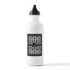 monogram_frame_J Water Bottle