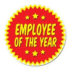 employee-of-the-year-001 Round Car Magnet