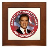 Arnold Schwarzenegger for President Framed Tile