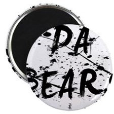 da bears paint splatter Magnet
