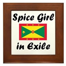 Spice Girl in Exile Framed Tile