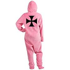 10x10-Cross-Pattee-Heraldry Footed Pajamas