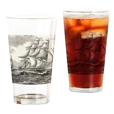 9x12_FramedPanelPrint_USSconstituti Drinking Glass