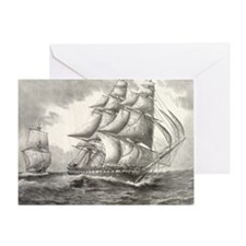 11.5x9_CalendarPrint_USSconstitution Greeting Card