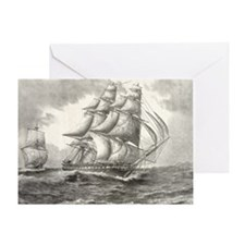 6x4_Postcard_USSconstitution Greeting Card