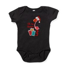 Christmas Flamingo Baby Bodysuit