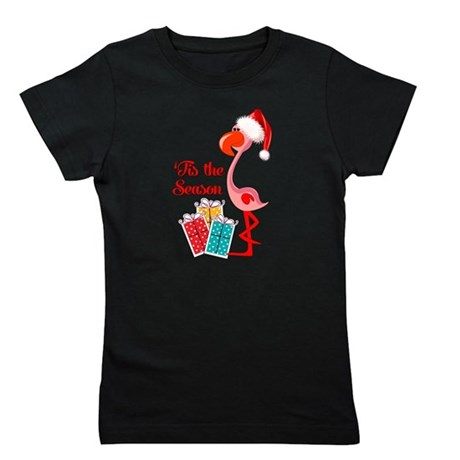 Christmas Flamingo Girl's Tee