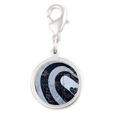 elliott smith Silver Round Charm