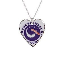 the narwhal whale bacon compa Necklace
