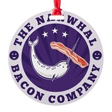 the narwhal whale bacon company Ornament