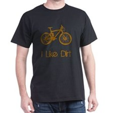 Dry Mountain Bike Dirt Brown T-Shirt