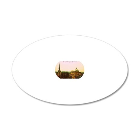 Dreaming Spires 20x12 Oval Wall Decal
