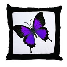 purpleswallowtail Throw Pillow