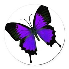purpleswallowtail Round Car Magnet