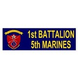 1st Bn 5th Marines&lt;BR&gt;Bumpersticker