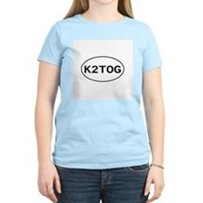 Knitting - K2TOG Women's Pink T-Shirt