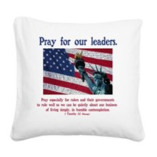 prayforleaders2 Square Canvas Pillow