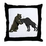 Bull vs. Bear Markets Throw Pillow