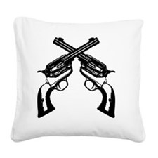 guns_crossed2 Square Canvas Pillow