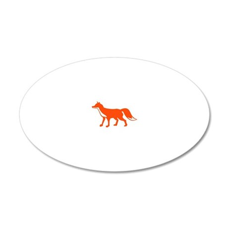 red_fox 20x12 Oval Wall Decal