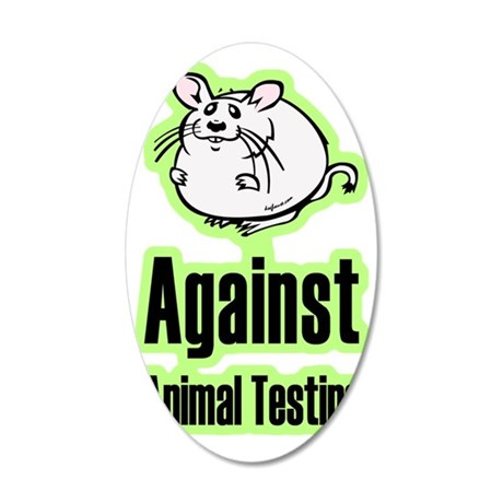 againstanimaltesting 35x21 Oval Wall Decal