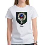 Rose Clan Crest Tartan Women's T-Shirt