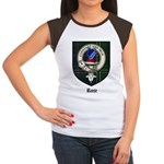 Rose Clan Crest Tartan Women's Cap Sleeve T-Shirt