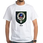 Rose Clan Crest Tartan White T-Shirt