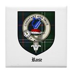Rose Clan Crest Tartan Tile Coaster