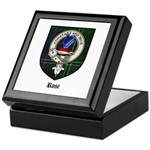 Rose Clan Crest Tartan Keepsake Box
