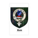 Rose Clan Crest Tartan Rectangle Sticker