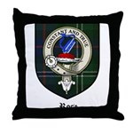 Rose Clan Crest Tartan Throw Pillow
