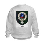 Rose Clan Crest Tartan Kids Sweatshirt