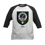 Rose Clan Crest Tartan Kids Baseball Jersey