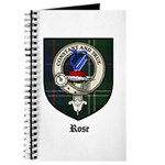 Rose Clan Crest Tartan Journal