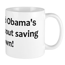anti obama saving his job2bump Mug