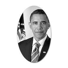 Barack_Obama 35x21 Oval Wall Decal