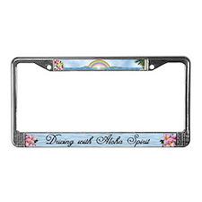"License Plate Frame ""Aloha Spirit"""