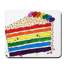 foodartrainbowcake Mousepad