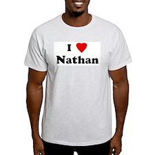 I Love Nathan Ash Grey T-Shirt
