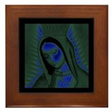 Virgen de Guadalupe - Navy Framed Tile