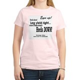 Dressage Riders Multitask Women's Pink T-Shirt