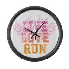 live love run Large Wall Clock