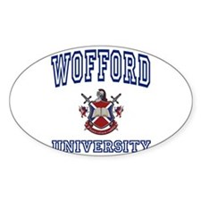 WOFFORD University Oval Decal