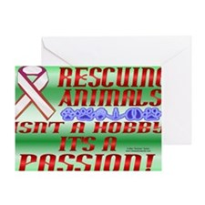 RescueAnimals_laptop_skin Greeting Card